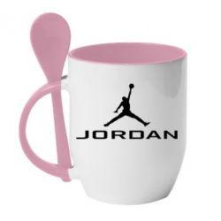 Кружка з керамічною ложкою Jordan