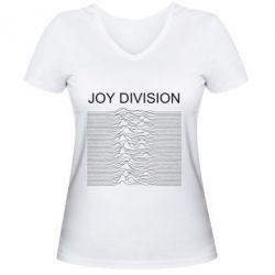Жіноча футболка з V-подібним вирізом Joy devision