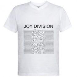 Чоловіча футболка з V-подібним вирізом Joy devision