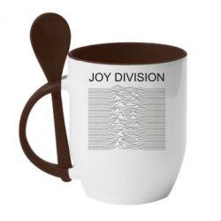 Кружка з керамічною ложкою Joy devision