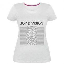 Жіноча стрейчева футболка Joy devision