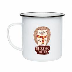Кружка емальована Їжак Поттер