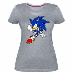 Жіноча стрейчева футболка Ёж Соник