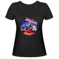 Жіноча футболка з V-подібним вирізом Judas Priest