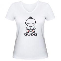 Женская футболка с V-образным вырезом Judo Fighter - FatLine