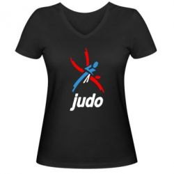 Женская футболка с V-образным вырезом Judo Logo - FatLine