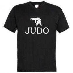 Мужская футболка  с V-образным вырезом Judo - FatLine