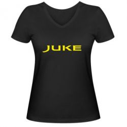 Женская футболка с V-образным вырезом Juke - FatLine