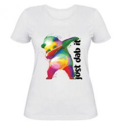 Жіноча футболка Just dab it