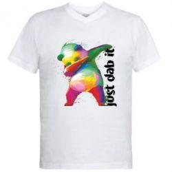 Чоловіча футболка з V-подібним вирізом Just dab it