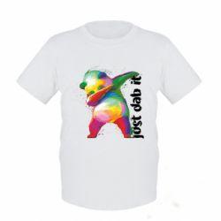 Дитяча футболка Just dab it