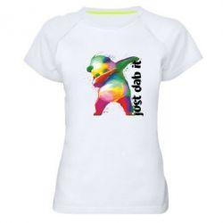Жіноча спортивна футболка Just dab it