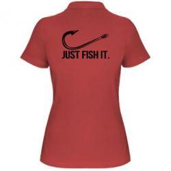 Жіноча футболка поло Just Fish It