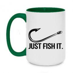 Кружка двоколірна 420ml Just Fish It