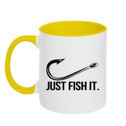 Кружка двоколірна 320ml Just Fish It