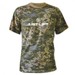 Камуфляжная футболка Just Lift Logo