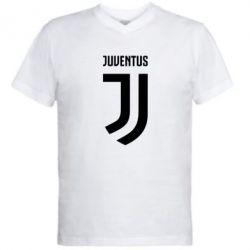 Мужская футболка  с V-образным вырезом Juventus Logo