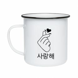 Кружка эмалированная K-pop - FatLine