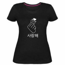 Женская стрейчевая футболка K-pop - FatLine
