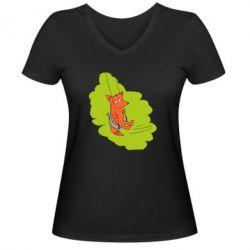 Жіноча футболка з V-подібним вирізом Гойдайся