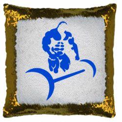 Подушка-хамелеон Качок і штанга