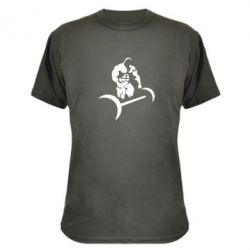 Камуфляжная футболка Качек и штанга - FatLine