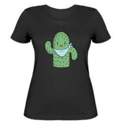 Женская футболка Кактус