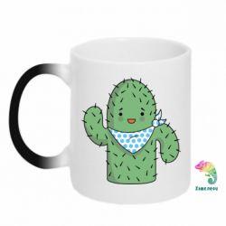 Кружка-хамелеон Кактус