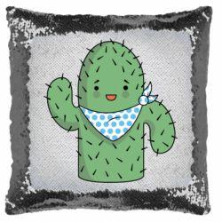 Подушка-хамелеон Кактус