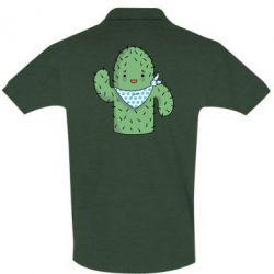 Мужская футболка поло Кактус
