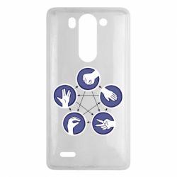 Чехол для LG G3 mini/G3s Камень, ножницы, бумага, ящерица, спок - FatLine