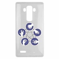 Чехол для LG G4 Камень, ножницы, бумага, ящерица, спок - FatLine