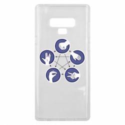 Чехол для Samsung Note 9 Камень, ножницы, бумага, ящерица, спок - FatLine