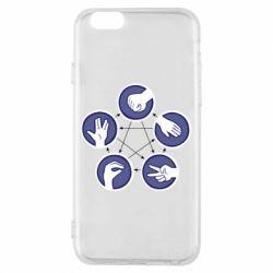 Чехол для iPhone 6/6S Камень, ножницы, бумага, ящерица, спок - FatLine