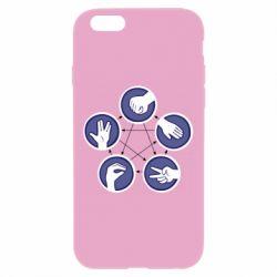 Чехол для iPhone 6 Plus/6S Plus Камень, ножницы, бумага, ящерица, спок - FatLine