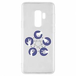 Чехол для Samsung S9+ Камень, ножницы, бумага, ящерица, спок - FatLine
