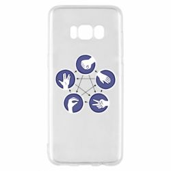 Чехол для Samsung S8 Камень, ножницы, бумага, ящерица, спок - FatLine