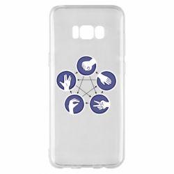 Чехол для Samsung S8+ Камень, ножницы, бумага, ящерица, спок - FatLine