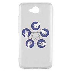 Чехол для Huawei Y6 Pro Камень, ножницы, бумага, ящерица, спок - FatLine