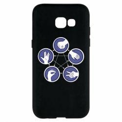 Чехол для Samsung A5 2017 Камень, ножницы, бумага, ящерица, спок - FatLine