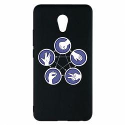 Чехол для Meizu M5 Note Камень, ножницы, бумага, ящерица, спок - FatLine