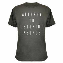 Камуфляжна футболка Allergy To Stupid People