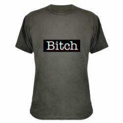 Камуфляжная футболка Bitch glitch