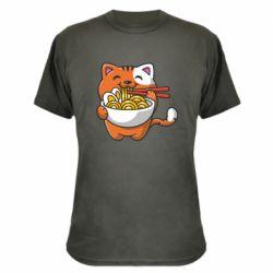 Камуфляжна футболка Cat and Ramen