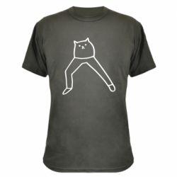 Камуфляжна футболка Cat in pants