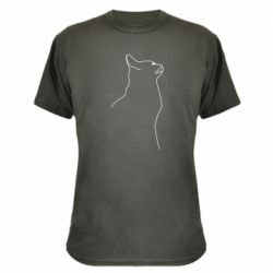 Камуфляжна футболка Cat line