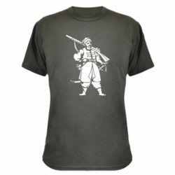 Камуфляжная футболка Cossack with a gun