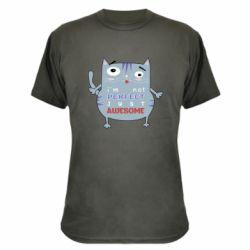 Камуфляжная футболка Cute cat and text