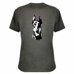 Камуфляжна футболка Доберман чорний