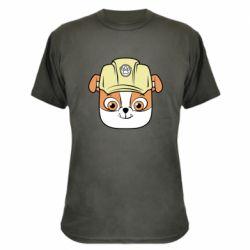 Камуфляжна футболка Dog in helmet